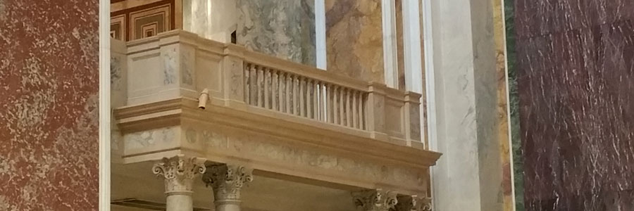 A balcony at the Cathedral of Saint Matthew the Apostle in D.C.